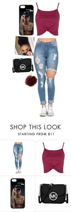 """Ÿesterdaÿ"" by siyahmarie ❤ liked on Polyvore featuring Topshop, MICHAEL Michael Kors and Charlotte Russe"