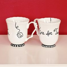 Hi everyone! Welcome to day nine of my 12 Days of Handmade Gifts! Handmade sharpie mugs have been circulating the web for a while now. You can find a bunch of tutorials on pinterest or google, like the ones Here, Here, Here, and Here. The method is all pretty much the same. You grab a mug draw your