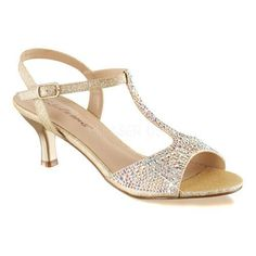 b51433327be Fabulicious Women s Audrey 05 T-Strap Sandal Nude Shimmering Fabric. Fabric  ShoesLow Heel ...
