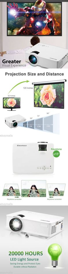 Home Theater Projectors: 1200Lumens Mini Hd 1080P Lcd Led Projector 3D Home Theater Hdmi Usb Sd Av 3.5Mm -> BUY IT NOW ONLY: $59.99 on eBay!