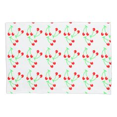 Cherry fruit summer pattern pillowcase