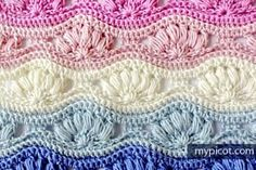 Ripple Puff Stitch Crochet Pattern What a beautiful result this is! Just looking at it looks like a complex pattern but it's actually just a few simple skills put together. All you need to know is how to chain, single, double and treble stitches. Follow along this picture guide. Click here for the pattern and …