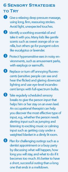 Tips for mastering everyday sensory challenges.
