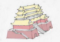 Minecraft Japanese House, Heian Era, Vietnam History, Kung Fu Panda, Architecture Design, Concept Art, Oriental, Castle, Buildings