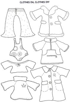 Paper Doll Clothes Template | Free Printable Paper Doll Cutout Templates For Kids And Adults