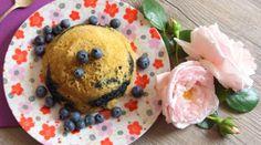 Petit déjeuner bowl cake myrtilles pomme & co