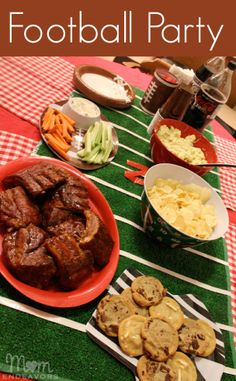 At-home football tailgate party via momendeavors.com