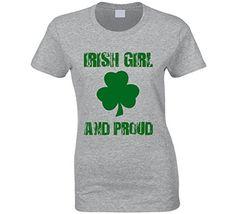 e08cbd75e Irish Girl and Proud St. Patricks Day T-Shirt Irish Girl Clover tshirt at  Amazon Women's Clothing store: