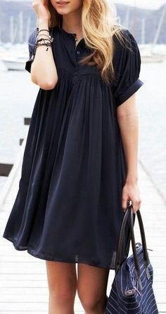 Black half sleeve dress