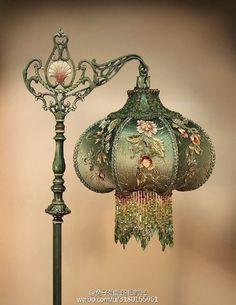 美貌的手工古董灯[心]大爱图一,像图五这样... 来自兔子姐姐的旧时光 - 微博