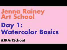 Jenna Rainey Art School | Day 1: Watercolor Basics - YouTube First Day Of School, School Days, Art School, Watercolor Painting Techniques, Watercolour Tutorials, Watercolor Paintings, Painting Tutorials, Beginning Watercolor, Photoshop Video