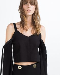 Image 4 of CROPPED TOP WITH STRAPS from Zara
