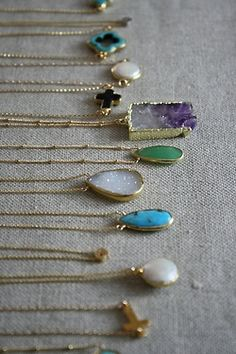 Dainty stone necklaces
