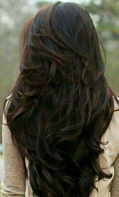 Dark Brunette Hair.