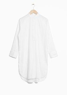 & Other Stories | Striped Jacquard Shirt Dress