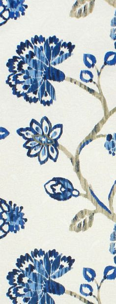 Richloom Ampersand Cobalt Fabric  $27.30  per yard Fabric Wall Art, Fabric Decor, Jacobean, Colorful Decor, Home Accents, Drapery, Fabric Patterns, Blue Gold, Cobalt