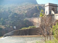 The dam wall, Hartbeespoort Dam, North West Province, South Africa.