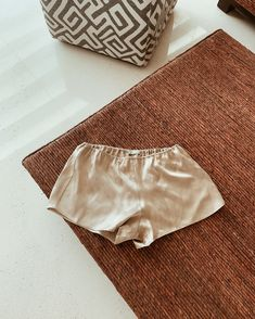 Mulberry Silk shorts by Dariia Day in French Beige