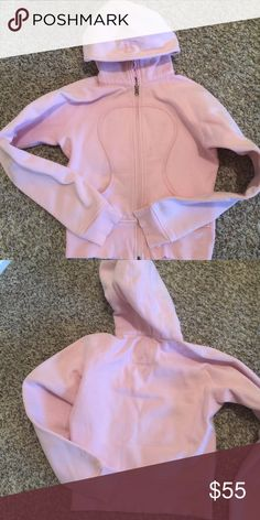Light Pink Lululemon Scuba hoodie 2 Awesome find Love soft pink Lululemon Scuba  Size 2  Excellent condition lululemon athletica Jackets & Coats
