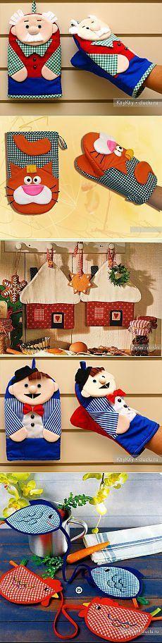 Прихватки для кухни, шитье из ткани - идеи для создания своими руками. | Costura | Pinterest