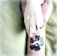 This is my absolute favorite tattoo that I have!! Means more to me than any others! -Heather Paw print tattoo if I was ever to get a paw print tattoo, I would never ever want a cartoon style tattoo, but the actual paw print of my pet friend- ink it lightly, press it on paper, and get it tattooed. So, it would be the actual paw print.