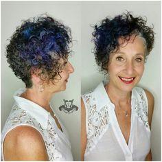 Asymmetric Curly Pixie with Pops of Color - http://sarasotabradentonhairsalon.com/asymmetric-curly-pixie-pops-color/