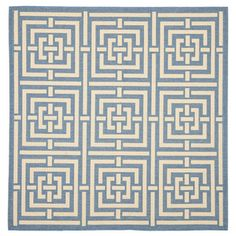 Courtyard:   Outdoor Rugs & Patio Furniture - Neela Rug 6'7 Square Blue, $139, now featured on Fab.