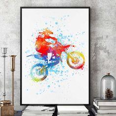 New Ideas dirt bike art boy rooms Dirt Bike Bedroom, Motocross Bedroom, Bike Room, Motorcycle Gifts, Motorcycle Art, Bike Art, Motorcycle Couple, Dirt Bike Shop, Cool Dirt Bikes