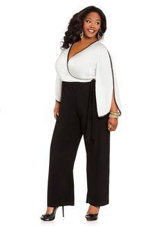 Ashley Stewart Women's Plus Size Color Block Jumpsuit           ($35.69)