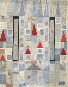 """recycled shirt quilt by Rosalind Gregory and Joan Herrington:  """"Where have all my shirts gone?""""   UK Festival of Quilts"""