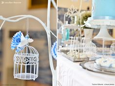 Cute birds for this bird themed baptism party