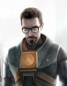 """The iconic picture of Gordon Freeman (""""The Free Man""""), from Half Life 2 by Valve Entertainment, 2004"""