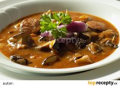 Thai Red Curry, Chili, Stuffed Mushrooms, Food And Drink, Soup, Beef, Ethnic Recipes, Red Peppers, Stuff Mushrooms