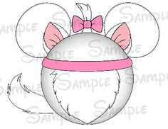 White cat inspired personalized Mouse head by SwirlyColorPixels, $3.00