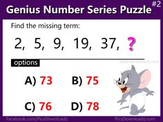 160 Best Only For Genius Puzzles! images in 2019 | Fun math, Maths ...