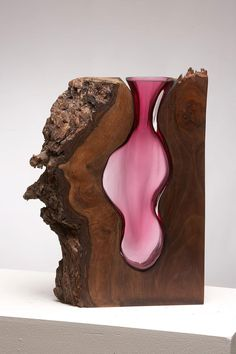 70f52dd56 Glass Vases Formed Within Wooden Enclosures by Scott Slagerman Studio