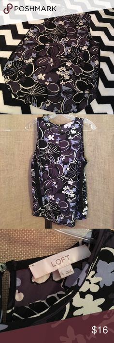 LOFT Sleeveless Floral Blouse LOFT Sleeveless Floral Blouse is perfect for spring and summer. Great Condition LOFT Tops Blouses