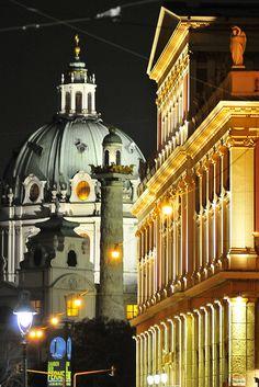 """""""musikverein, karlskirche, vienna, austria"""" by franzj on Flickr - Musikverein, Kariskirche, Vienna, Austria"""