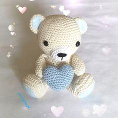 Orsetto teddy amigurumi, by Le creazioni di Emily, 23,00 € su misshobby.com
