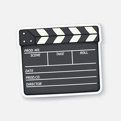 Find Vector Illustration Closed Clapperboard Used Cinema stock images in HD and millions of other royalty-free stock photos, illustrations and vectors in the Shutterstock collection. Preppy Stickers, Cute Laptop Stickers, Kawaii Stickers, Anime Stickers, Cool Stickers, Printable Stickers, Journal Stickers, Scrapbook Stickers, Scrapbooking Image