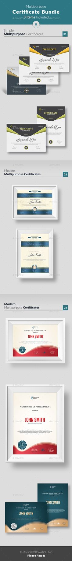 34 Best Certificate Templates PSD images in 2017