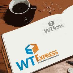 Criação de logotipo para a WT Express por Foco Design & Gráfica.
