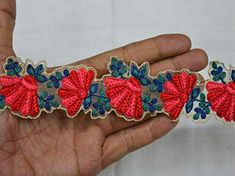 Wholesale Red Embroidered Saree Border Crafting Ribbon Trim Decorative Indian Trim by 9 yard Fabric trims and embellishment Sari Border You can purchase from what's Aap no. is We also take wholesale enquiries. Christmas Trimmings, Floral Ribbon, Floral Fabric, Saree Border, Bridal Clutch, Fabric Suppliers, Sari, Indian Fabric, Brocade Fabric