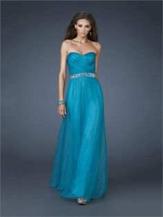 A-line Sweetheart Beaded and Pleated Tulle Prom Dress PD11410 www.dresseshouse.co.uk $118.0000