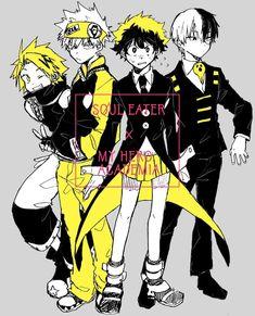 My Hero Academia x Soul Eater - Kaminari, Bakugou, Midoriya & Todoroki