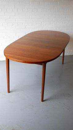 Thonet Dining Table Lop Table Tables And Mid Century - Teak oval extension dining table