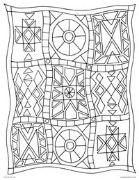 Patchwork Quilt Geometric Star Quilt Blanket Free Printable Coloring Page For Adults And Kids By Leia Quilt Pattern Download Coloring Pages Quilt Patterns