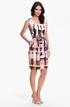 Maggy London Belted Plaid Sheath Dress (Petite) available at #Nordstrom