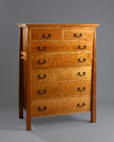 Arts And Craft Style Dresser In Natural Cherry With Solid Back. $2,500.00,  Via Etsy