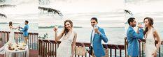 Stephanie + Anil Elopement at Kahana Bay, Hawaii Jump In My Car, Hawaii Elopement, Colored Sand, Good Morning Friends, Oahu Hawaii, Trek, Sky, Bride, Beach